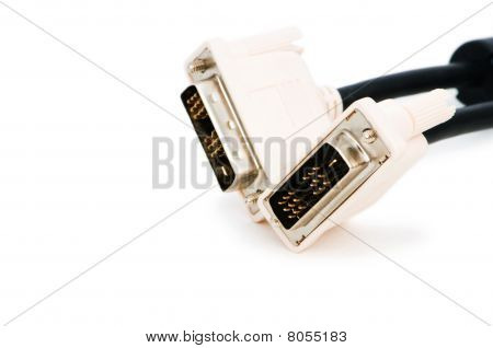 Dvi Cable Isolated On The White Background