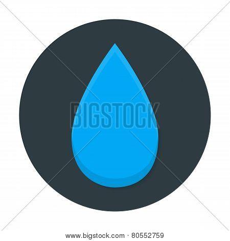 Tear Flat Circle Icon