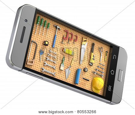 Pegboard in the mobile phone