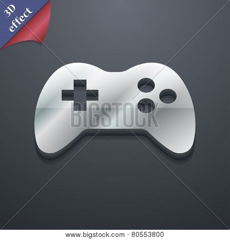 Joystick Icon Symbol. 3D Style. Trendy, Modern Design With Space For Your Text Vector