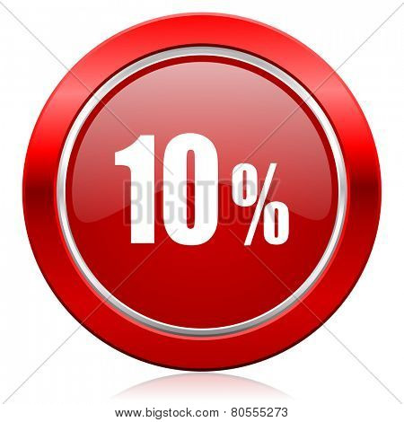 10 percent icon sale sign