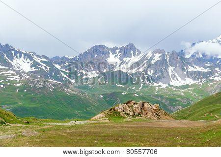 Tignes ski area in the summer.