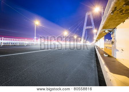 freeway with sky background.
