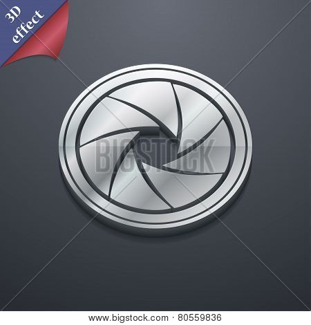 Diaphragm  Icon Symbol. 3D Style. Trendy, Modern Design With Space For Your Text Vector