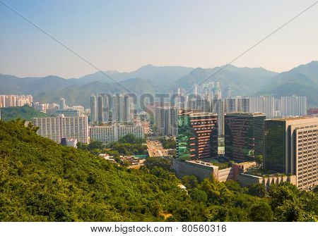 Sha Tin district located in the New Territories, Hong Kong