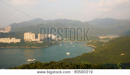 view from mountain in Hong Kong