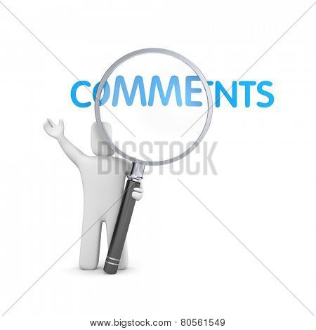 Person reads comments