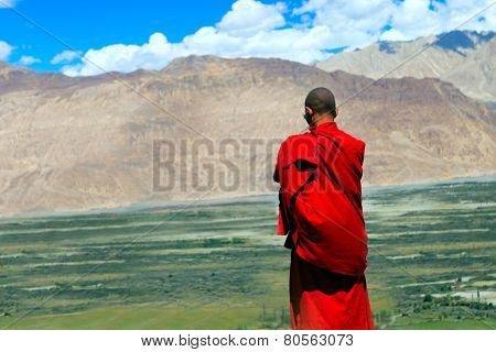 Buddhist Monk In Himalayas