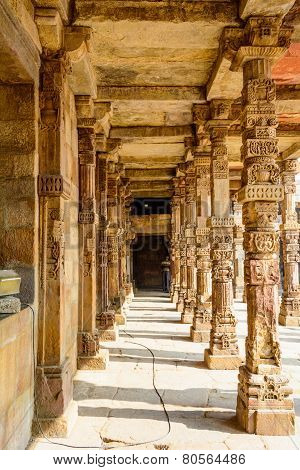 Pillars of Qutub Minar