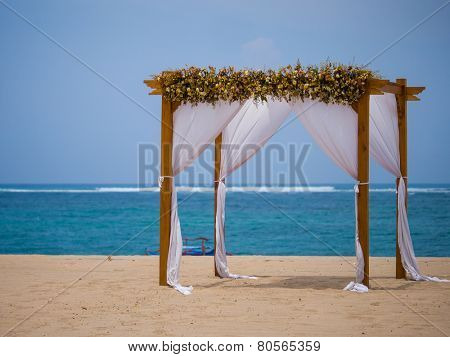 Canopy on the beach in Bali Indonesia