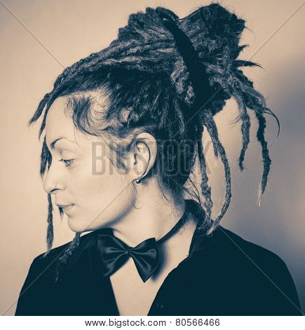 Girl with dreads