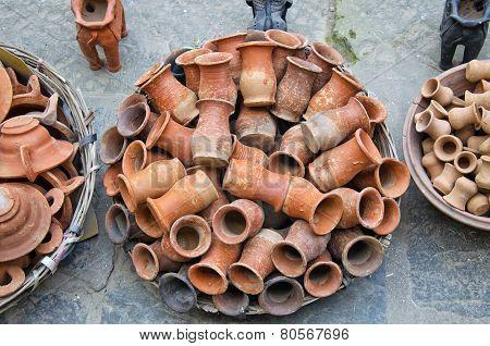 Ceramic Bowl Vase Pots For Hinduism Rituals