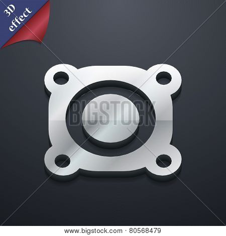 Speaker Volume Icon Symbol. 3D Style. Trendy, Modern Design With Space For Your Text Vector