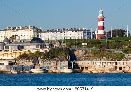 Plymouth Hoe From Mount Batten
