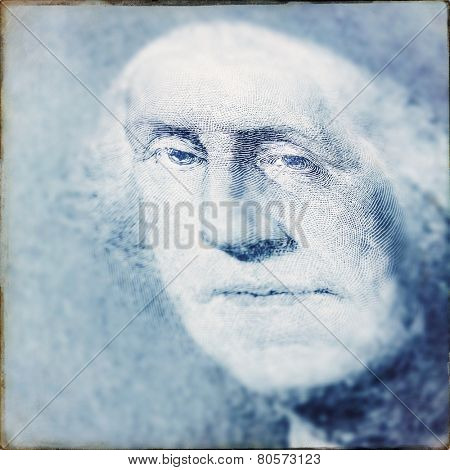 Instagram filtered image of George Washington