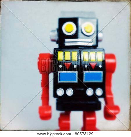 Instagram filtered image of a toy robot