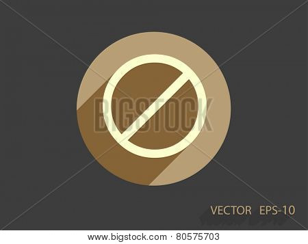 Flat icon of a prohibition