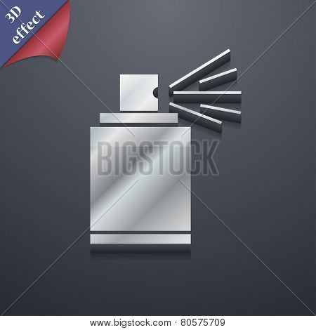 Aerosol Paint Icon Symbol. 3D Style. Trendy, Modern Design With Space For Your Text Vector