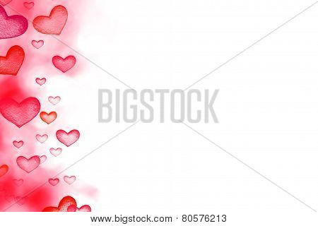 Happy Valentine's Day Abstract   Defocused Bokeh Twinkling Lights Vintage Background. Beautiful Illu