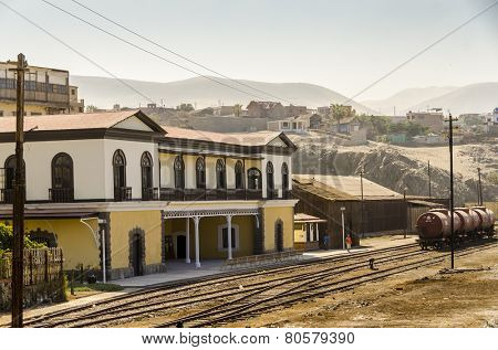 MOLLENDO, PERU, MAY 20, 2014: Old train station
