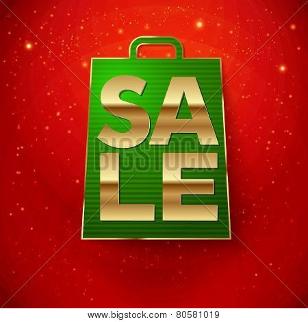 Christmas sale background. Vector illustration.
