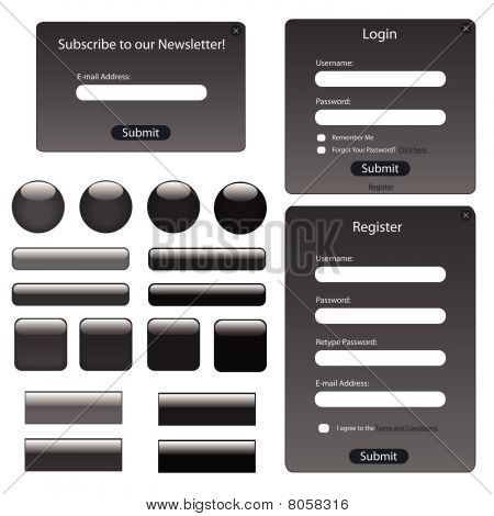 Web Forms Dark Grey