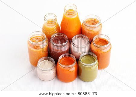 first baby food in jar - food and drink