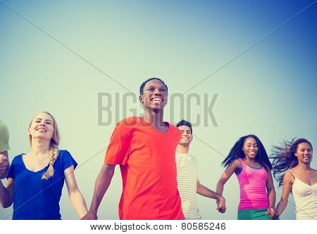 Friendship Happiness Friends Ecstatic Cheerful Relaxation Concept