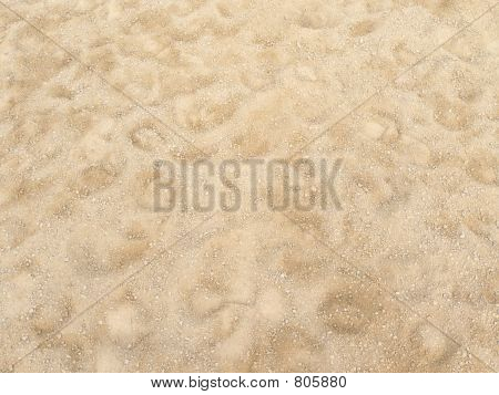 Sand with hoofprints