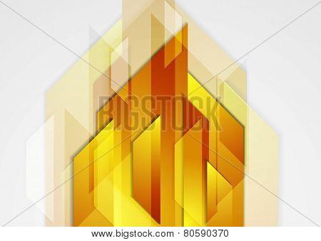 Orange shiny hi-tech motion background. Vector design