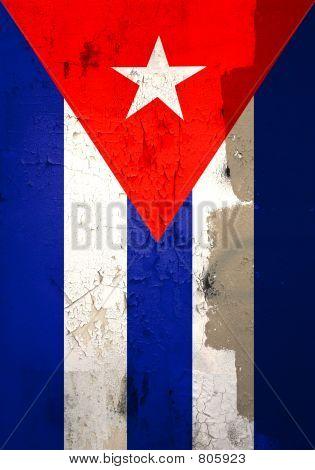 Weathered cuban flag