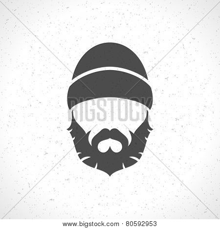 Lumberjack hipster style silhouette vintage vector design element illustration