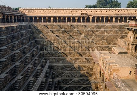 Chand Baori Stepwell, Rajasthan, India.