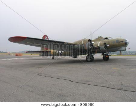B-17 Preparing For Takeoff