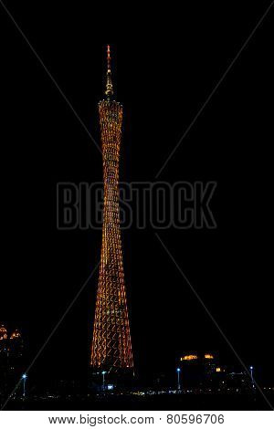 Night Scene Of Guangzhou Tv Tower
