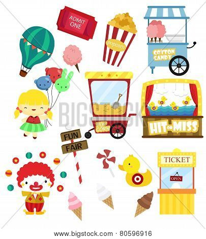 carnival vector set (no background)