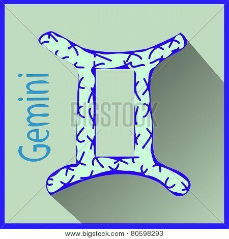 Gemini Zodiac sign vector illustration