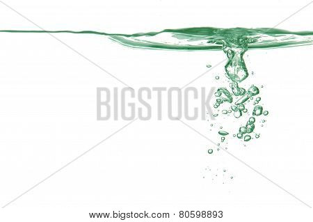Bubbles In A Green Water