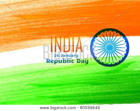 vector indian republic day design celebrated on 26 january madewith color strokes illustration