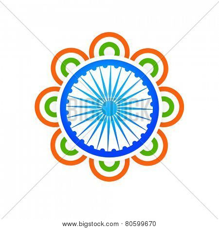 indian flag design concept made with tri color circles