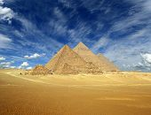 picture of the great pyramids  - Great pyramids at Giza Cairo in Egypt  - JPG