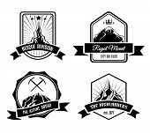 picture of clubbing  - Set of mountain badges for ski club or another sport clubs - JPG
