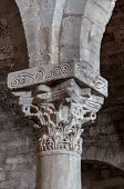 stock photo of pilaster  - A marble pilaster in an ancient italian church