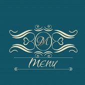 picture of monogram  - calligraphy monogram floral design - JPG