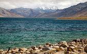 foto of jammu kashmir  - Tso Moriri lake in Rupshu valley Chamser and Lungser Kangri  - JPG