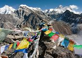 picture of dharma  - view of everest from gokyo ri  - JPG