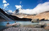 pic of cho-cho  - view of Tonak Tsho lake  - JPG