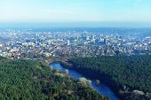 foto of suburban city  - Beautiful view of European city  from television tower - JPG