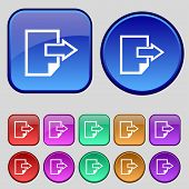 stock photo of export  - Export file icon - JPG