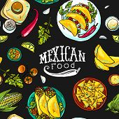image of mexican  - simpless pattern mexican food for your design - JPG